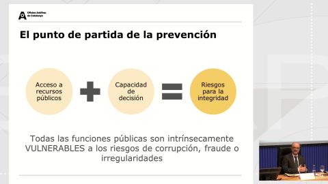 A prevención da corrupción desde a xestión de riscos. Os conflitos de interese como risco transversal - Curso monográfico Os sistemas de integridade institucional nas administracións públicas